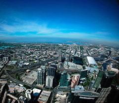 Мельбурн с небоскреба Eureka Tower. Архив