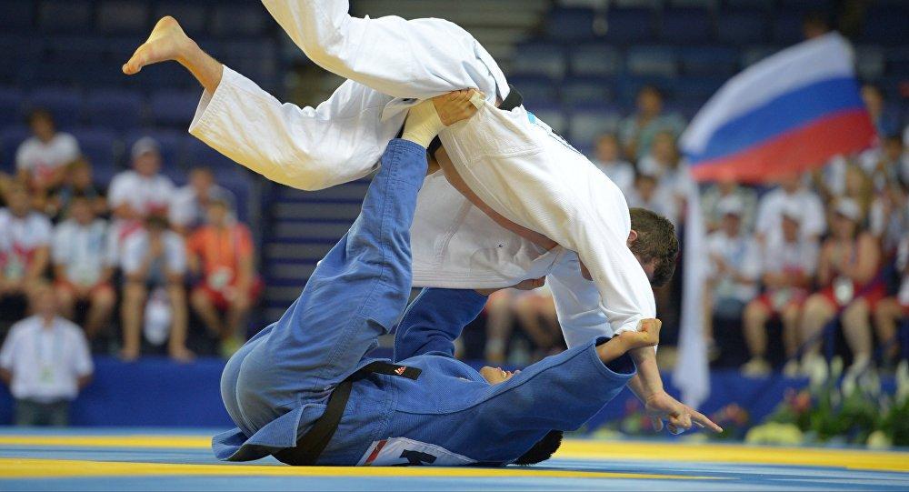 Соревнования по дзюдо. Архивное фото
