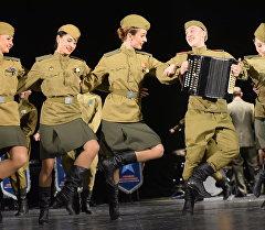 Концерт военного ансамбля в Бишкеке. Архивное фото