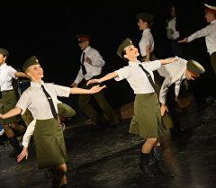 Концерт российского военного ансамбля. Архивное фото