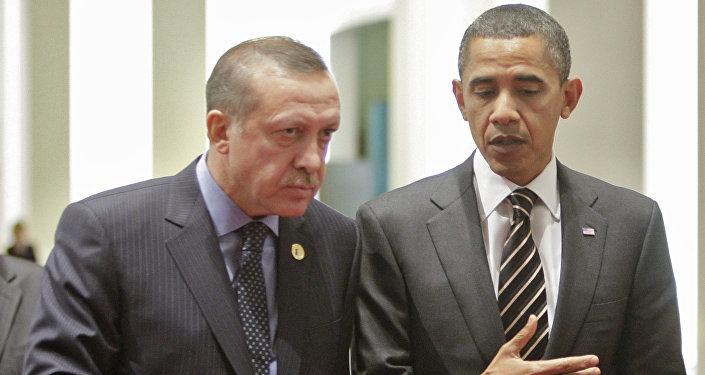 Президент Турции Реджеп Таип Эрдоган и президент США Барак Обама. Архивное фото