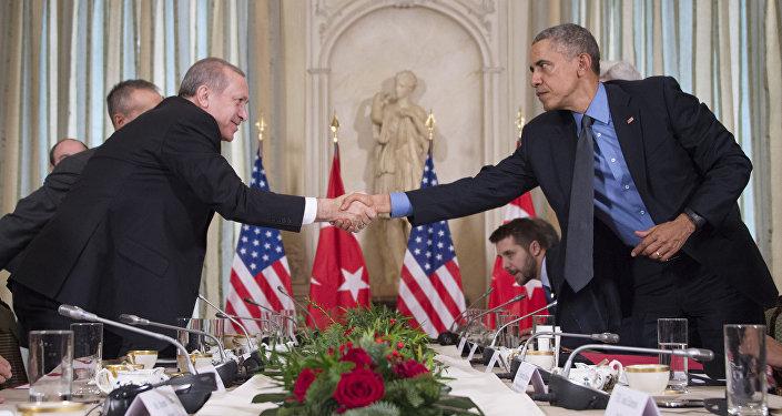 Двухсторонняя встреча президентов Турции и США в Париже.
