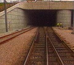 Тоннель под Ла-Маншем на глубине 45 метров ниже морского дна. Архив