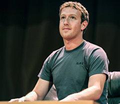 Создатель крупнейшей мировой социальной сети Facebook Марк Цукерберг. Архивное фото