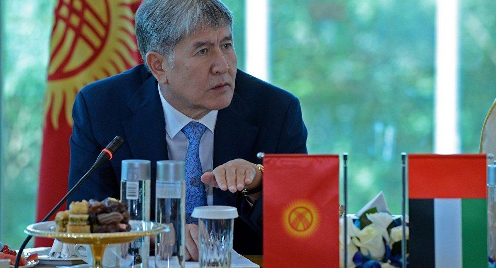 Президент Алмазбека Атамбаев. Архивное фото