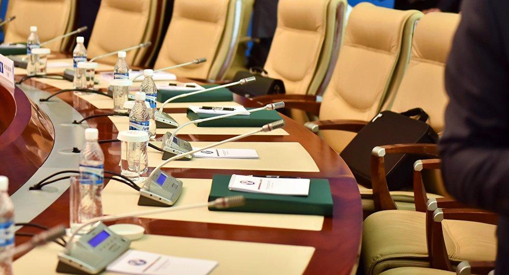 Рабочие места для участников конференции. Архивное фото