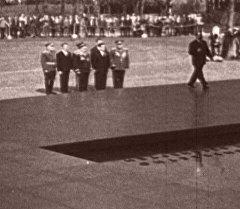 Торжественное открытие Мемориала Могилы Неизвестного Солдата в Москве. Архив