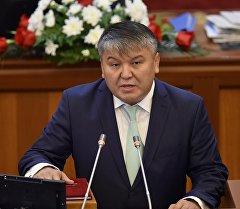 Министр экономики Арзыбек Кожошев. Архивное фото