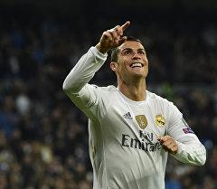 Португальский футболист, выступающий за испанский клуб «Реал Мадрид» Криштиану Роналду. Архивное фото