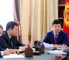 Премьер-министр Темир Сариев Коргоо иштери боюнча мамлекеттик комитеттин төрагасы Марат Кенжисариевди кабыл алды.