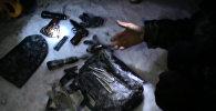 Бишкекте эки согушкер жок кылынган жерден тартылган видео