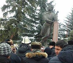Памятник русскому поэту Александру Сергеевичу Пушкину.