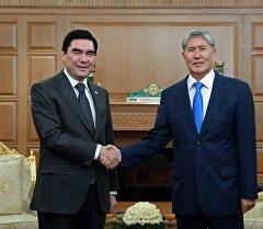 Визит президента Кыргызской Республики Алмазбека Атамбаева в Ашхабад