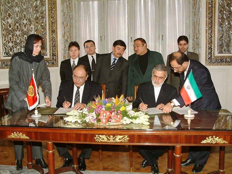Медет Садыркулов в МИДе Ирана на подписании соглашений