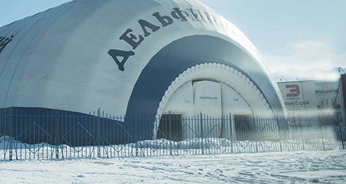 Строящийся дельфинарий в городе Бишкек.