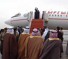 Мизи жаркылдаган кылыч. Атамбаевди Кувейтте чоң салтанат менен узатышт
