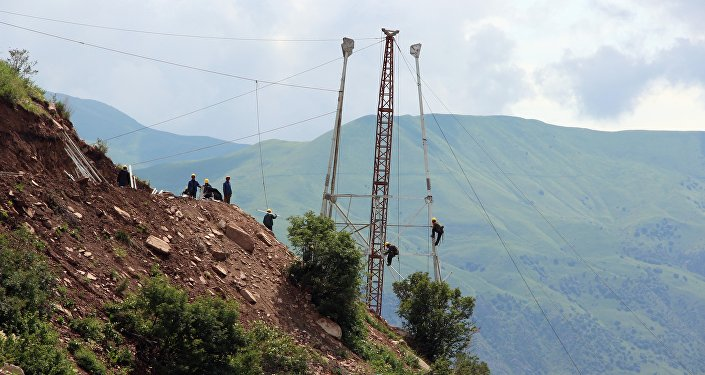 Опора расположена на высоте почти 3 километра над уровнем моря.