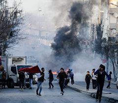 Стамбул шаарындагы кагылышуу учурунда.