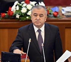 Ата-Мекен фракциясынын лидери Өмүрбек Текебаев. Архив
