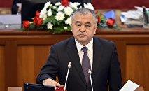 Жогорку Кеңештин депутаты Өмүрбек Текебаев. Архив