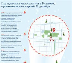 Праздничные мероприятия в Бишкеке, организованные мэрией 31 декабря