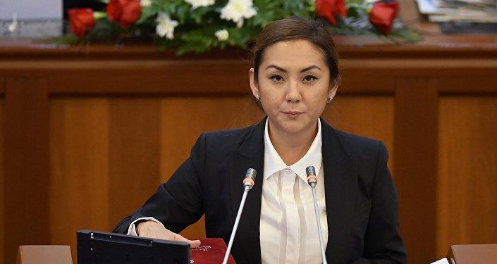 Депутат ЖК 6 созыва Чолпон Эсенаманова от фракции Кыргызстан