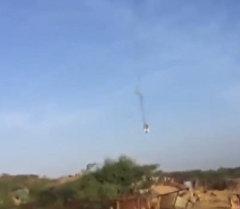 Истребитель F-16 ВВС Бахрейна разбился в Саудовской Аравии. Кадры инцидента