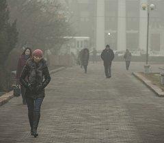 Бишкекте туман. Архивдик сүрөт