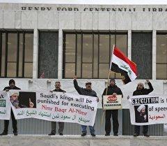 Демонстранты с флагом Ирана. Архивное фото