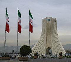Тегеран шаарындагы Азади мунарасы. Архив