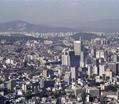 Түштүк Кореядагы Сеул шаары. Архивдик сүрөт