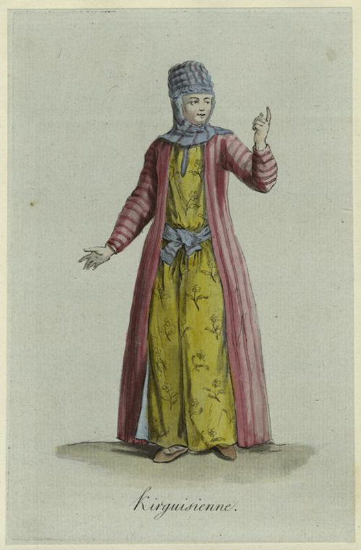 Кыргызская девушка. 1747