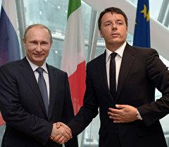 Россиянын президенти Владимир Путин менен Италиянын премьер-министри Маттео Ренци. Архив