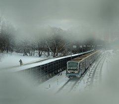 Станцияга келип жаткан поезд. Архив