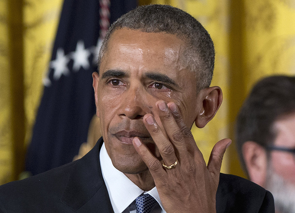 Выступление президента США Барака Обамы по ужесточению контроля за оружием у населения, Вашингтон