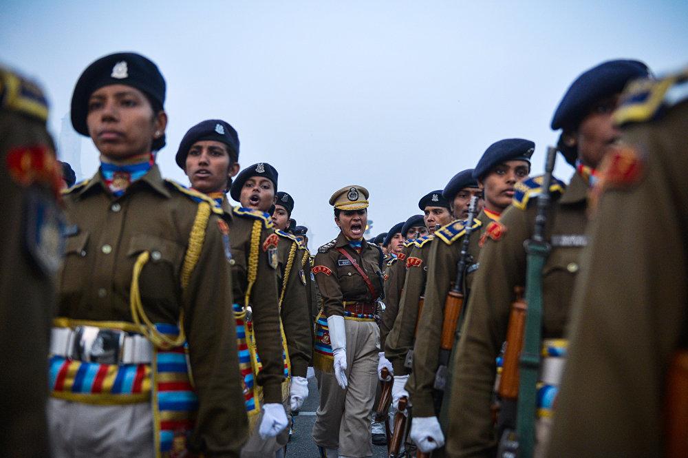 Подготовка к параду в честь Дня республики в Индии