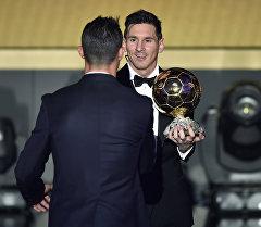 Обладатель Золотого мяча ФИФА 2015 нападающий Барселоны Лионель Месси. Архивное фото