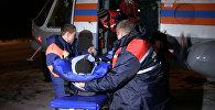 Спасатели на Ми-8 забрали с базы геологов пострадавшего на перевале Дятлова