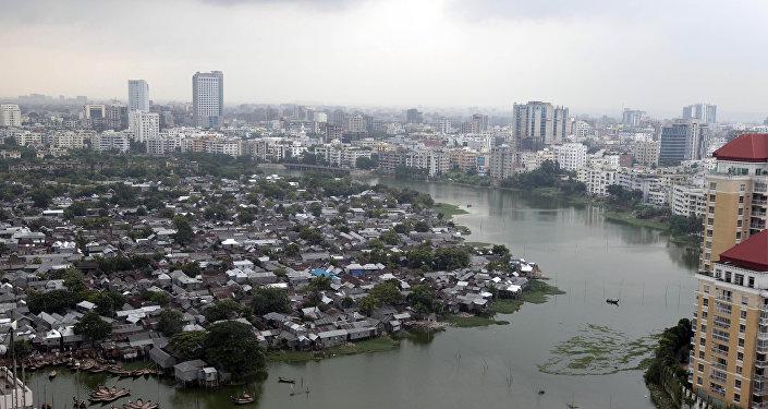 Вид на город Дакка, Бангладеш. Архивное фото