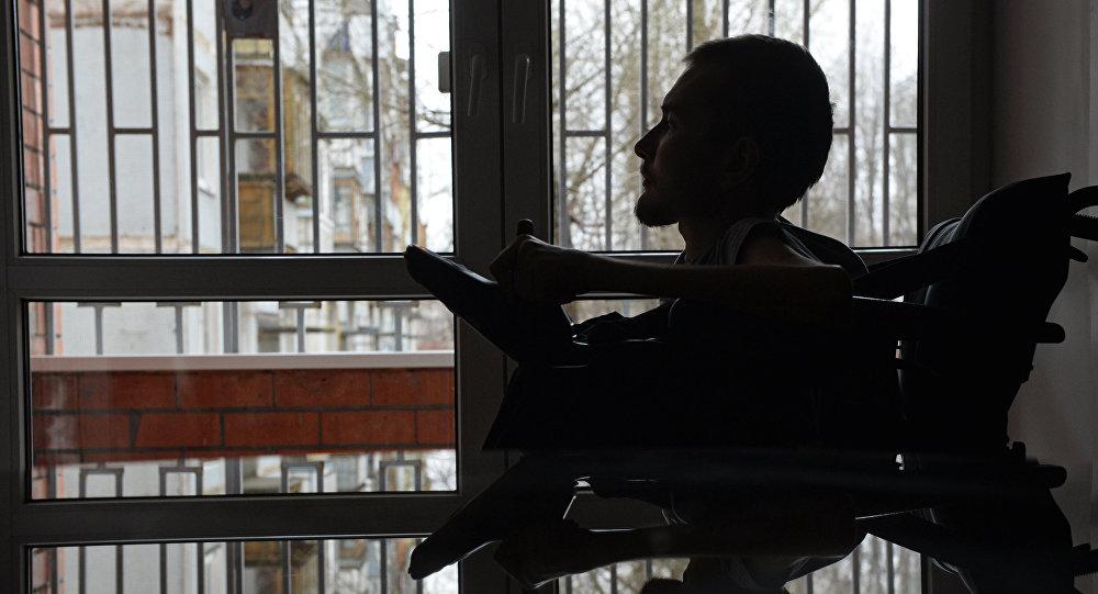 Россиянин Валерий Спиридонов согласившийся на первую в мире операцию по пересадке головы. Архивное