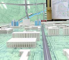 Макет генерального плана города Бишкек. Архивное фото