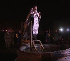 Как российские военные на авиабазе в Сирии встретили Крещение