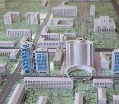 Бишкек шаарынын борборунун макети. Архив