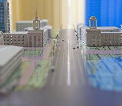 Макет Генерального плана города Бишкека