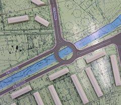 Макет Генерального плана города Бишкека. Архивное фото