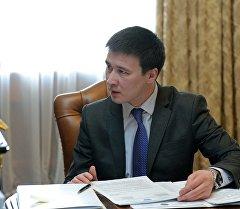 Улуттук энергетикалык холдинг компаниясынын төрагасы Айбек Калиевдин архивдик сүрөтү