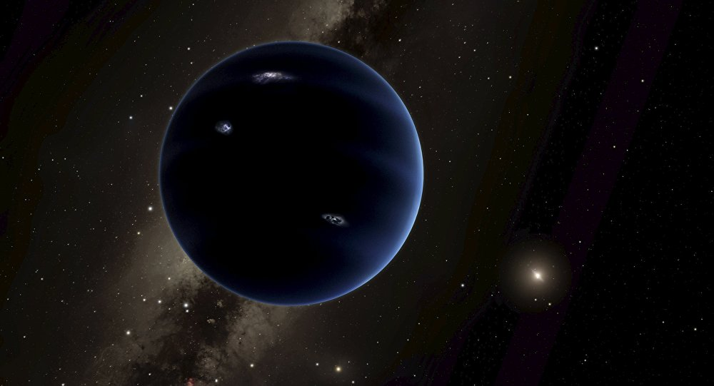 Нарисованная художником девятая планета Солнечной системы. Архивное фото