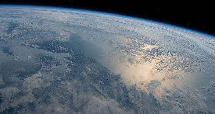Вид с космоса на планету земля. Архивное фото