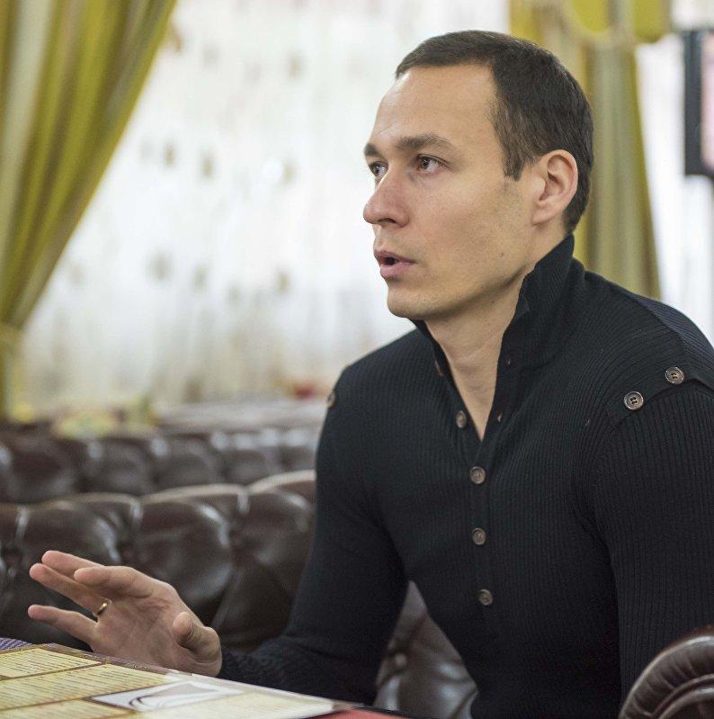 Главный вратарь сборной Кыргызстана по футболу Павел Матяш. Архивное фото