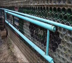 Кыргызстанец построил теплицу из 20 тысяч бутылок